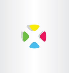 letter x logo x colorful circle icon vector image