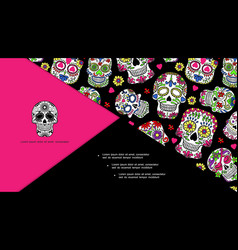 mexican day of the dead composition vector image