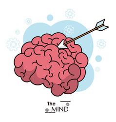 Mind arrow target objetive business design vector