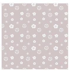 Minimalistic floral pattern seamless decorative vector