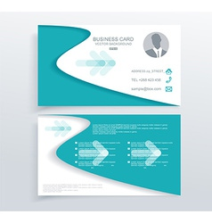 Modern simple light business card vector image