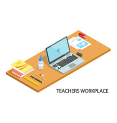 modern teachers workplace vector image