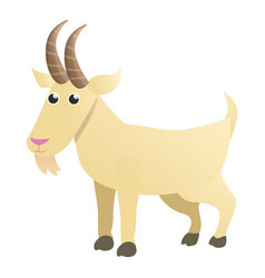 Mountain goat icon cartoon style vector
