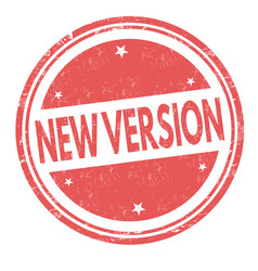 new version sign or stamp vector image