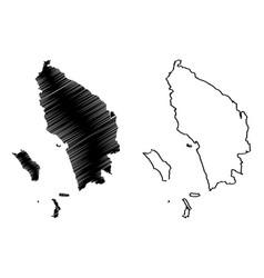 North sumatra map vector