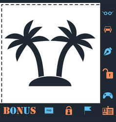 Palms icon flat vector