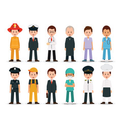 People professions and occupations icon set vector
