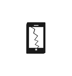phone crashed designs inspiration isolated on vector image