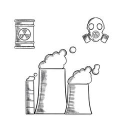 Pollution and destruction environment vector