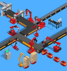 Production equipments set vector