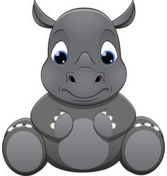 Rhino baby vector