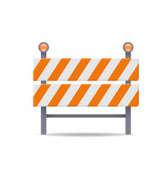 road barrier flat icon vector image
