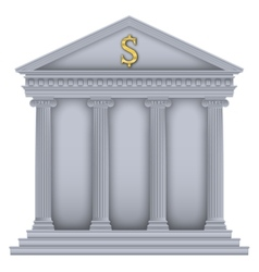 RomanGreek Temple bank symbol vector image