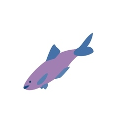 Salmon fish icon isometric 3d style vector image