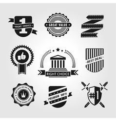 set symbols vector image