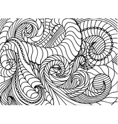 sketchy hand drawn doodles zen tangle zen vector image