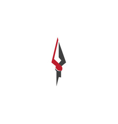 Spear icon template vector