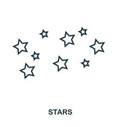 stars icon flat style icon design ui vector image