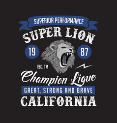 Super lion champion league club good for your t vector