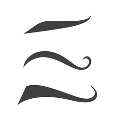 swash and swooshes tails design vector image