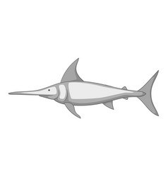 swordfish icon monochrome vector image