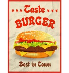 Taste burger vector