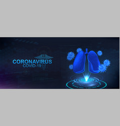 The projection coronavirus and lungs vector
