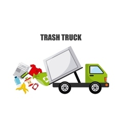 trash truck design vector image