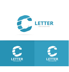 unique letter c logo design template vector image