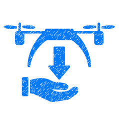 Unload drone grunge icon vector