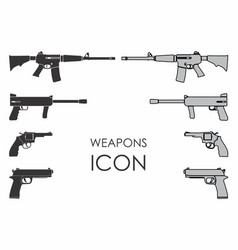 Weapons icon vector