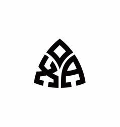 Xa monogram logo with modern triangle style vector