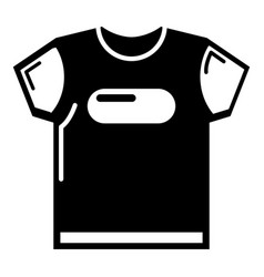 child t shirt icon simple black style vector image vector image