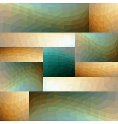 Modern abstract tile composed of mirror arranged vector image