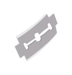 Razor blade icon in cartoon style vector image
