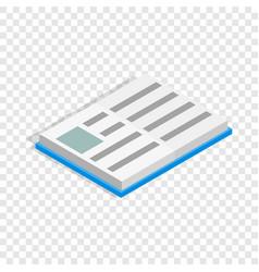 school book isometric icon vector image