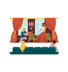theatrical performance on stage vector image vector image