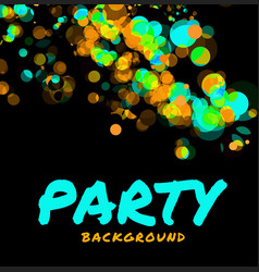 abstract party background vector image vector image