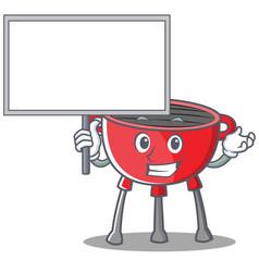 Bring board barbecue grill cartoon character vector