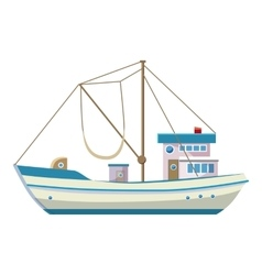 Fishing boat icon cartoon style vector image