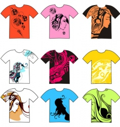 t-shirt collection vector image