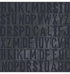 vintage letterpress vector image vector image