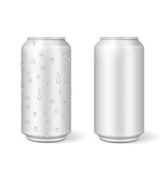 blank aluminium can for lemonade or beer vector image