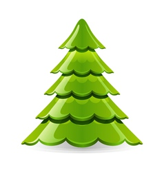 christmas glossy tree vector image vector image