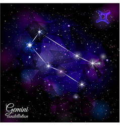 gemini constellation with triangular background vector image vector image