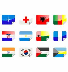 glossy flags vector image vector image