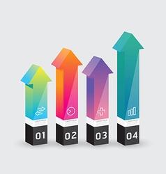 infographic template Modern arrow box Design vector image vector image