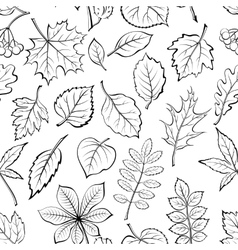 Leaves of Plants Pictogram Seamless vector image