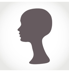 Mannequin Female Head Basis for Wig vector image vector image