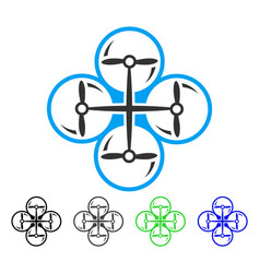 quad copter flat icon vector image vector image